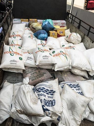 Doação de bens alimentares não perecíveis